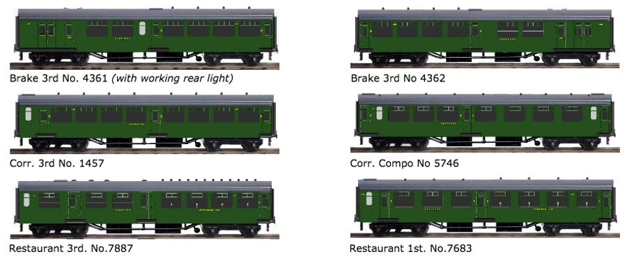 SR Bulleid Malachite Green Coaches