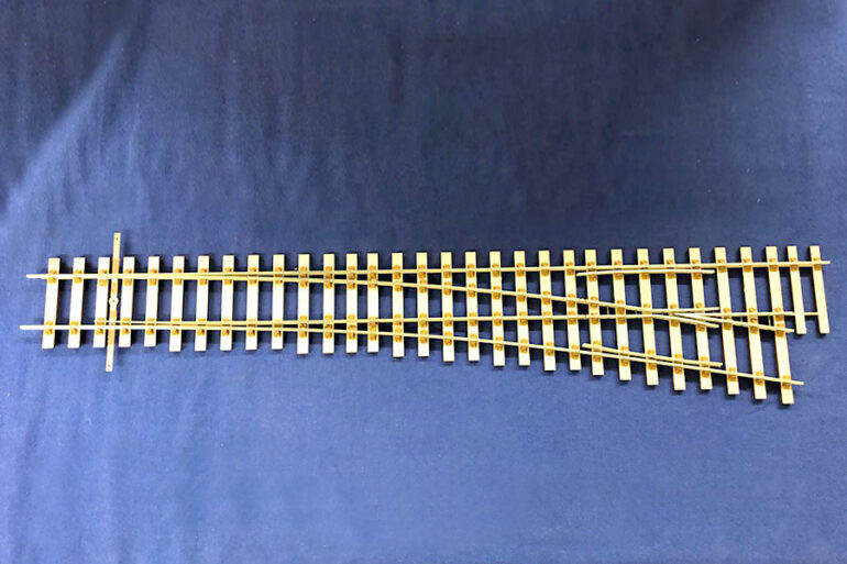 Greenwood two rail standard scale points/turnouts